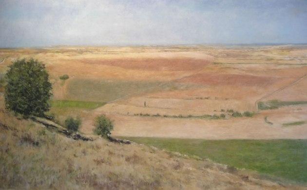 Cuadro al oleo de un paisaje de Castilla y León.